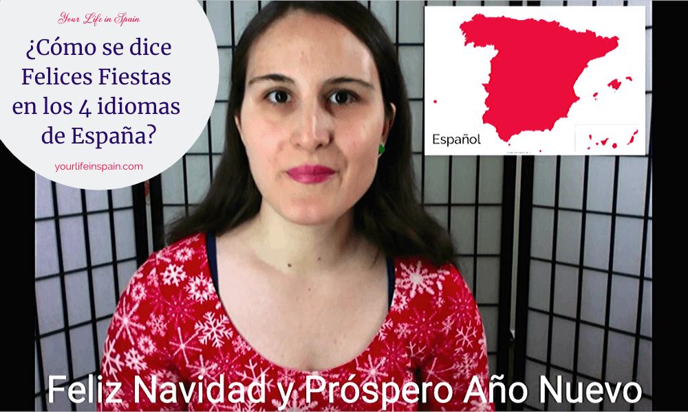 ¿Cómo se dice Felices Fiestas en los 4 idiomas de España?