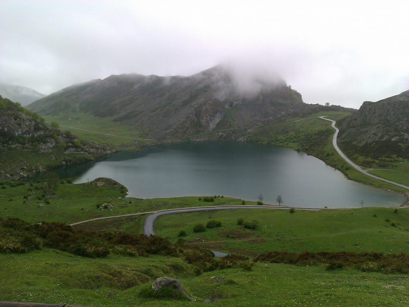 Lago de Covadonga, en los Picos de Europa