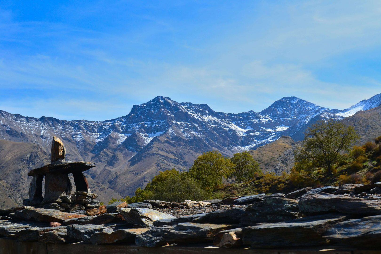 El Mulhacén, en Sierra Nevada, es el pico más alto de la península ibérica