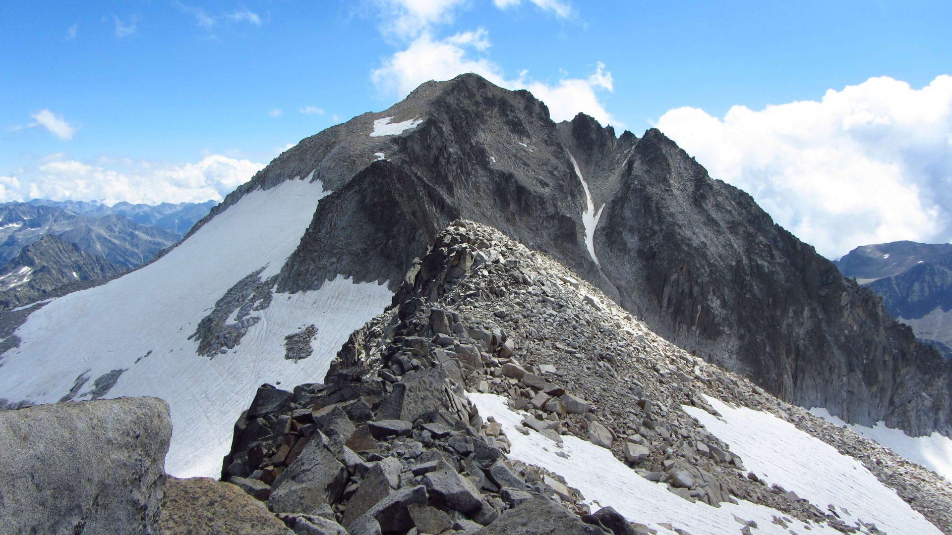 El pico Aneto, en los Pirineos.