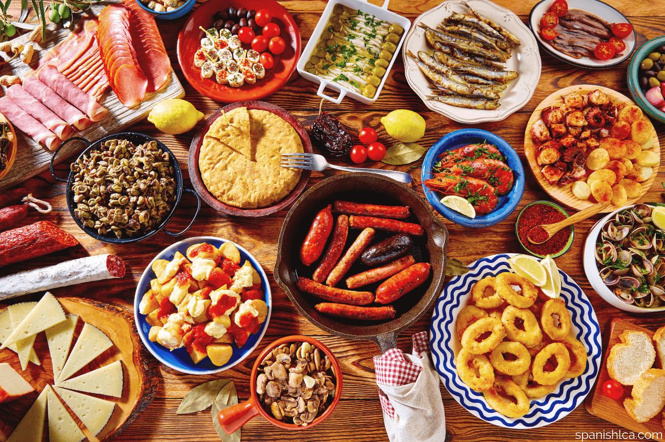 Tapas de España aperitivo gratuito