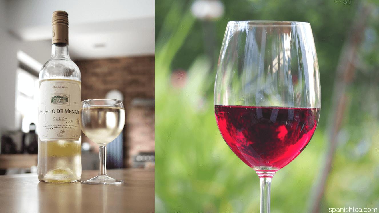 Vinos de España: rioja, ribera de duero, jerez, albariño.