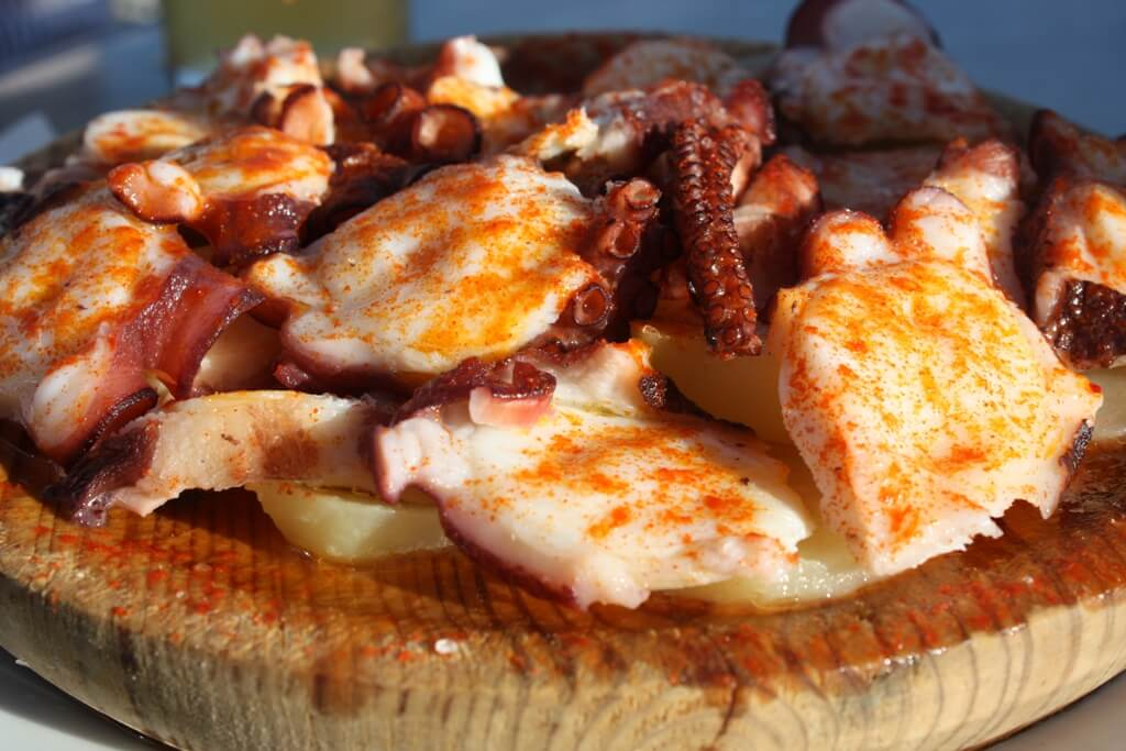 pulpo a la gallega Galicia gastronomia