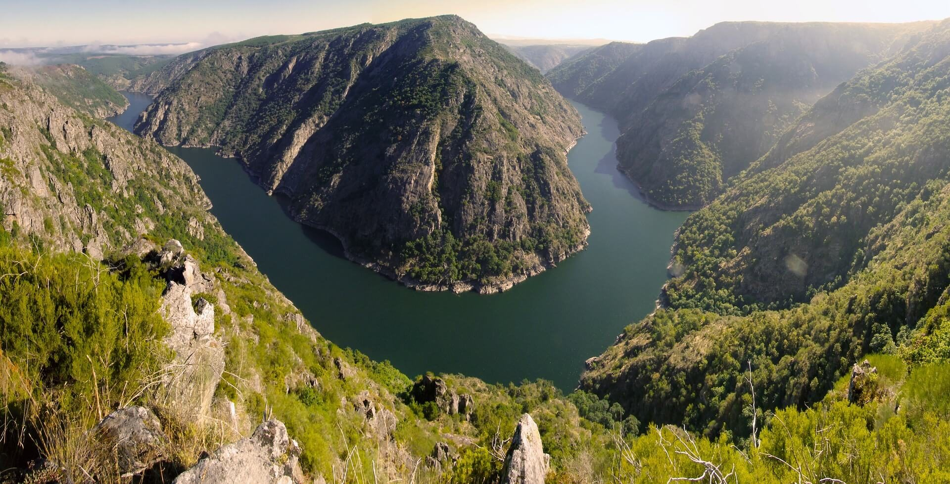 cañon rio Sil Galicia Spain España